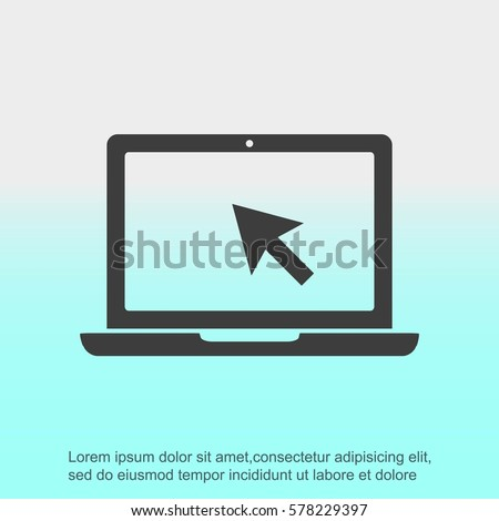 Laptop vector icon