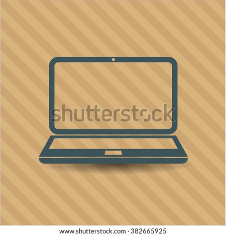 Laptop vector icon or symbol