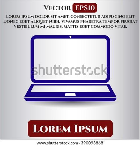 Laptop vector icon or symbol