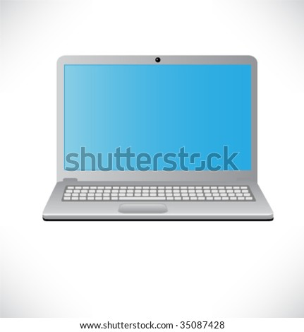 Laptop vector illustration.