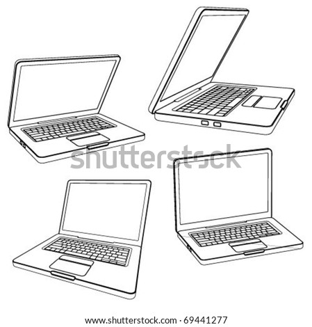laptop vector illustration