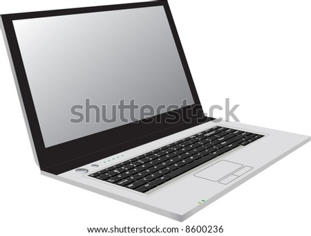 Laptop. Vector illustration