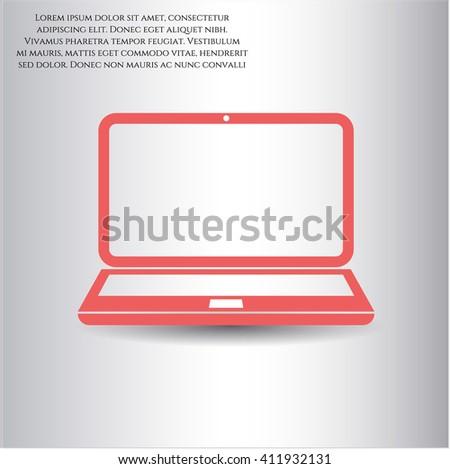 Laptop vector symbol