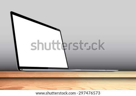 laptop with blank screen on