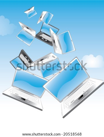 Laptops falling from the sky
