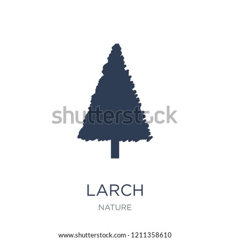 larch icon trendy flat vector