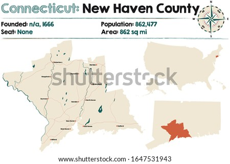 large and detailed map of new