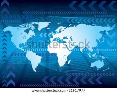 Mapa del mundo brillante descargue grficos y vectores gratis large blue world map on an abstract background conceptual business illustration the base map gumiabroncs Choice Image