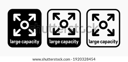 Large capacity vector information sign Сток-фото ©