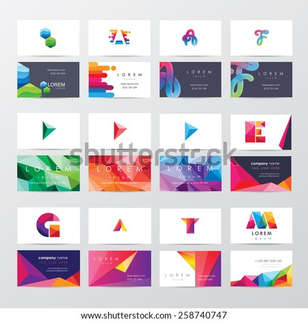 stock-vector-large-collection-of-colorful-business-card-template-designs-with-logo-icons-for-business-visual
