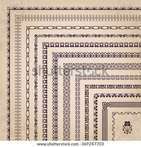 Large collection of corner borders and frames #369247703