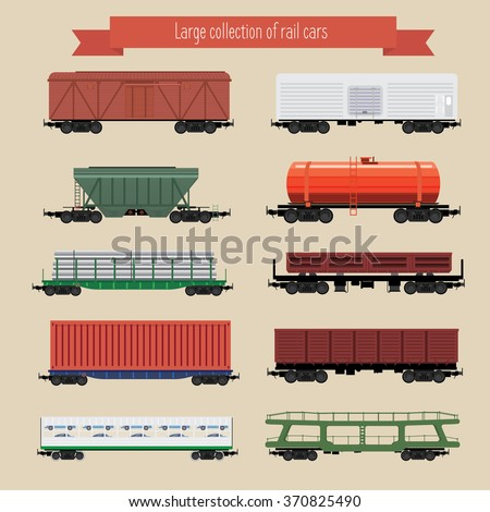 large collection of rail freight wagons ten different types of cars include freight cars dump. Black Bedroom Furniture Sets. Home Design Ideas