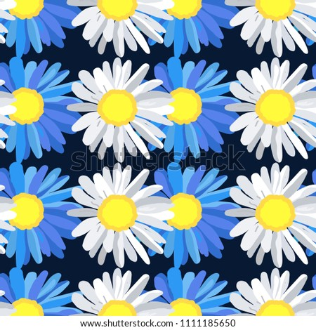 large daisies are blue and