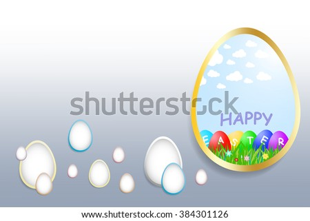 large egg with gold border
