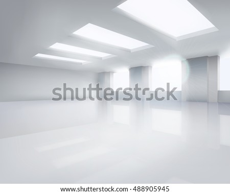 large empty room vector