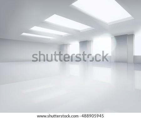 large empty room vector