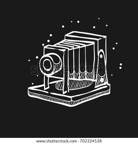 large format camera icon in