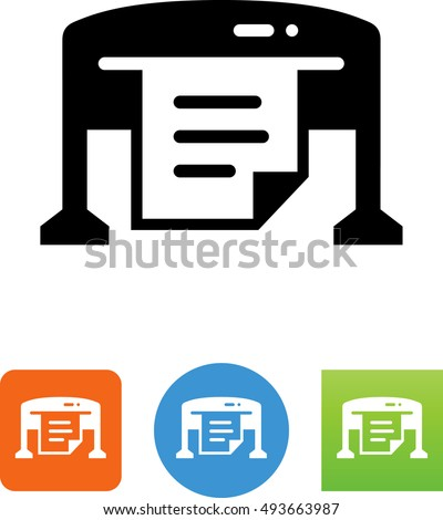 Large Format Printer Icon