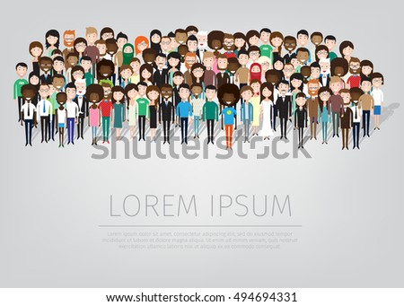 large group of different people