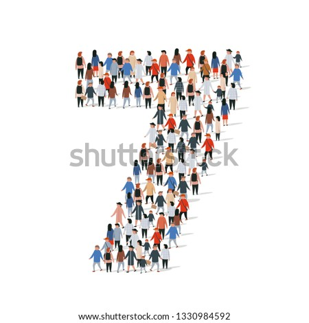 large group of people in number
