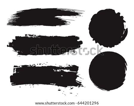 stock-vector-large-grunge-elements-set-brush-strokes-banners-borders-splashes-splatters-vector-illustration