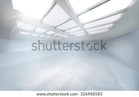 large hall vector illustration