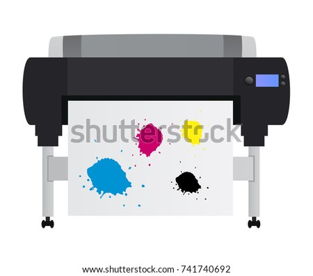 Large inkjet plotter printer - for printing many products such as billboards, posters, roll-ups and more large formats