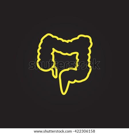 large intestine icon  large