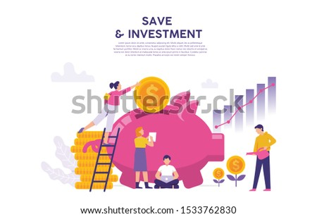 large piggy bank with coins, future investment concepts for financial security, financial analysis as a financial solution in the future