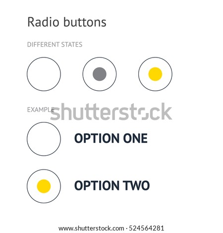 Large radio buttons. Example.