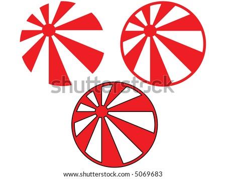 the rising sun japanese flag vector rh vecteezy com japansese rising sun vector free