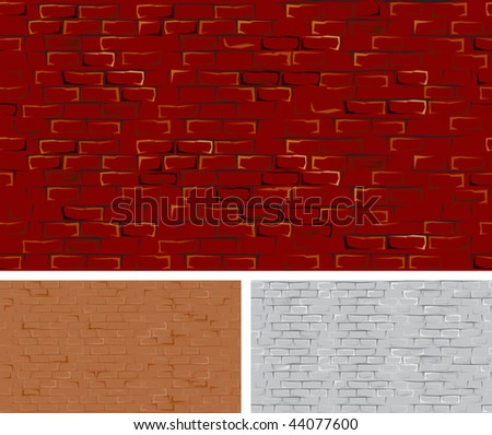 Large seamless brick wall vector without gradients