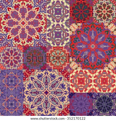Large Set Of Colorful Vintage Ceramic Tiles With Ornate Moroccan Stunning Moroccan Design Pattern