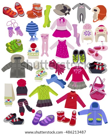 large set of fashion children's