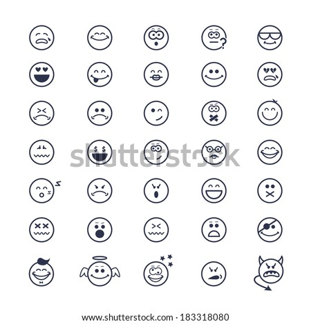 large set of vector icons of