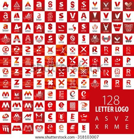 large set of vector logo letters Stok fotoğraf ©