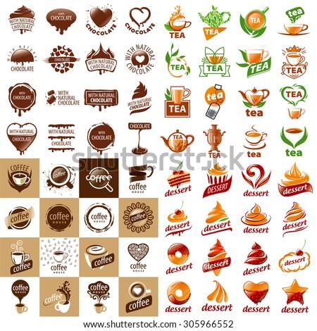 large set of vector logos hot