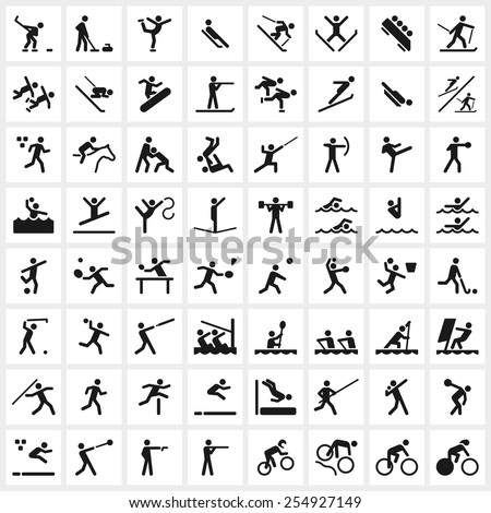 large set of vector sports