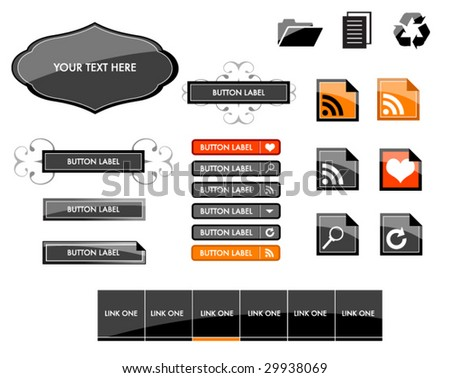 Large Set of Web Buttons