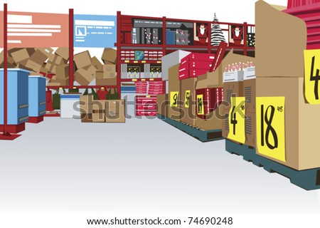 large store interior with copy space