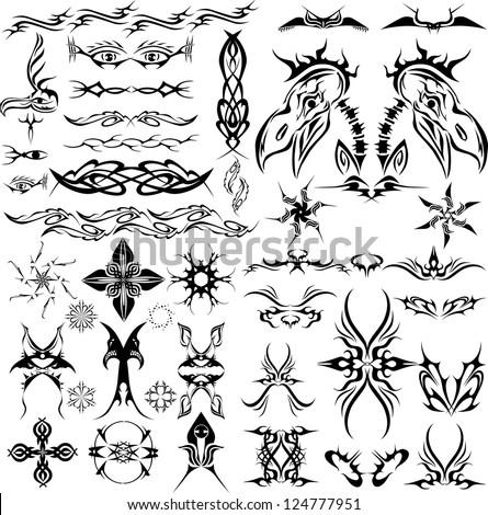 large tattoo set