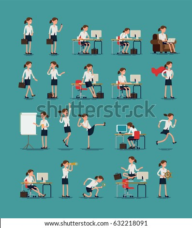 large vector set of business
