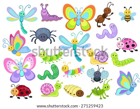 large vector set of cute