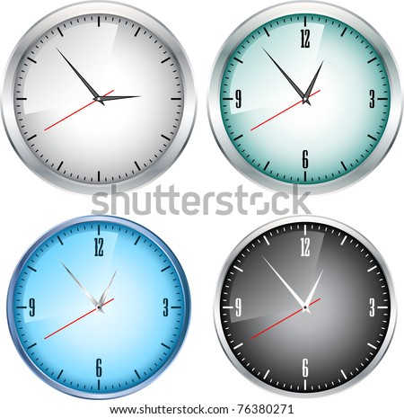 Large wall clock on a white background