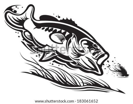 largemouth bass vector - download free vector art, stock graphics