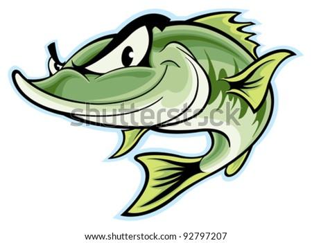 largemouth bass clip art - photo #30