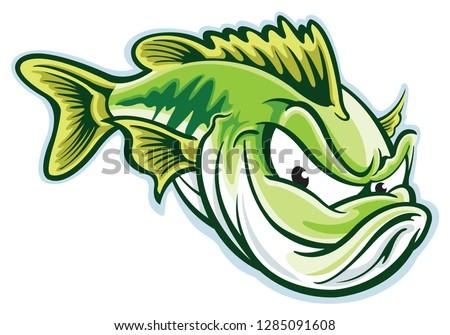Largemouth bass cartoon