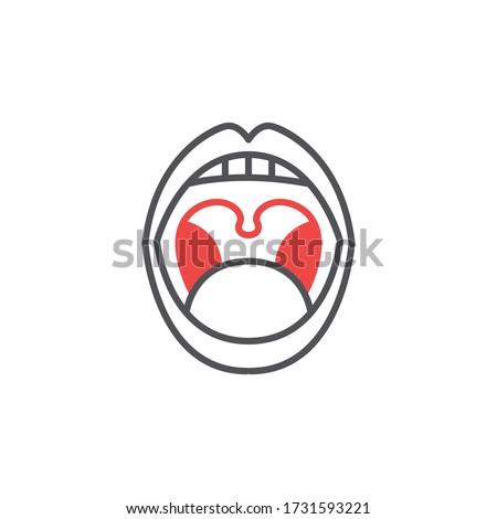 laryngitis line icon, vector illustration  Stock photo ©