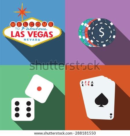 las vegas casino vector with