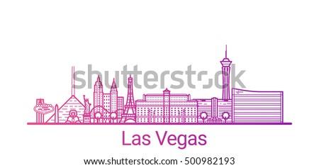 las vegas city colored gradient